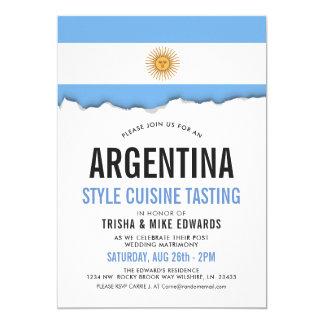 Argentina Cuisine | Party Flag White Invite