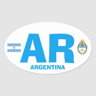 Argentina Euro Style Oval Wisker Oval Sticker