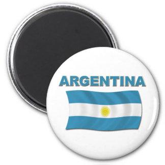 Argentina Flag 1 6 Cm Round Magnet