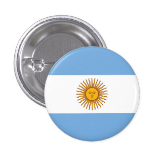 Argentina Flag 3 Cm Round Badge