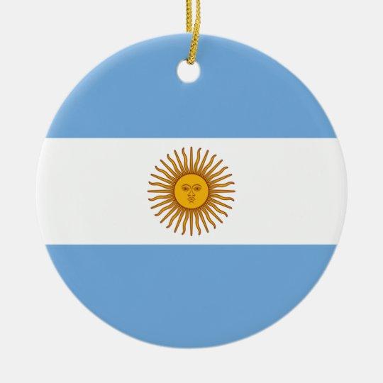 Argentina Flag - Bandera Argentina Round Ceramic Decoration
