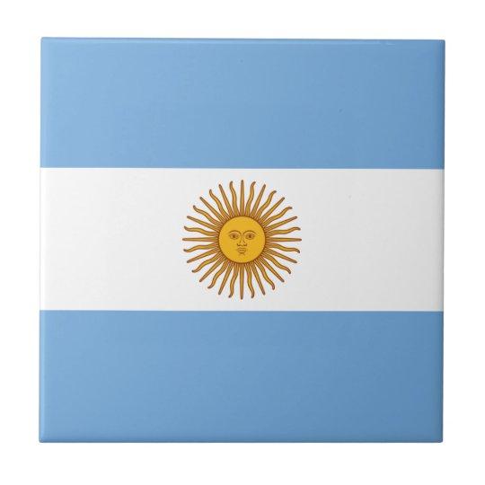 Argentina Flag - Bandera Argentina Small Square Tile