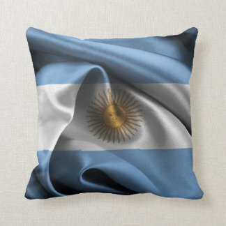 Argentina flag throw pillows