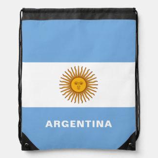 Argentina Flag Drawstring Backpack