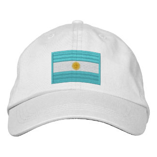 Argentina Flag Embroidered Baseball Cap