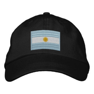 Argentina Flag Embroidered Hats