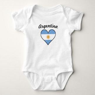 Argentina Flag Heart Baby Bodysuit