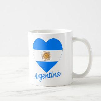 Argentina Flag Heart Basic White Mug