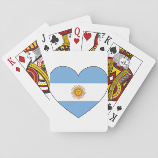Argentina Flag Heart Playing Cards