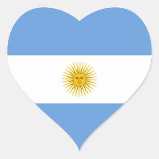 Argentina Flag Heart Sticker