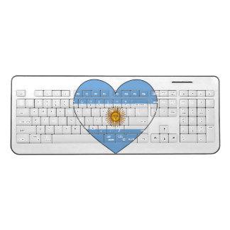 Argentina Flag Heart Wireless Keyboard