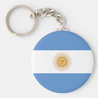 Argentina Flag Basic Round Button Key Ring