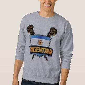 Argentina Flag Lacrosse Logo Sweatshirt