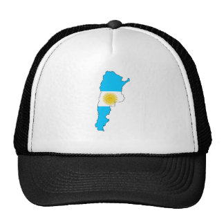 Argentina Flag Map full size Trucker Hats