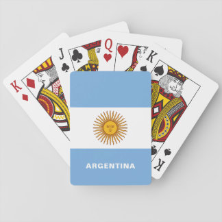 Argentina Flag playing cards