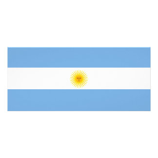 Argentina Flag Rack Card