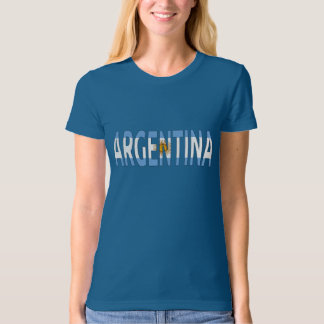 Argentina flag text sign T-shirt