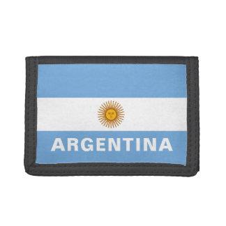 Argentina Flag TriFold Nylon Wallet