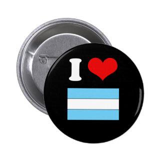 Argentina Flag Tshirt 6 Cm Round Badge