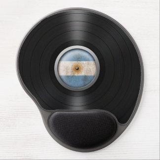 Argentina Flag Vinyl Record Album Graphic Gel Mouse Mats