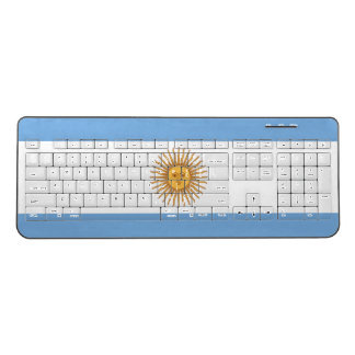 Argentina flag wireless computer keyboard