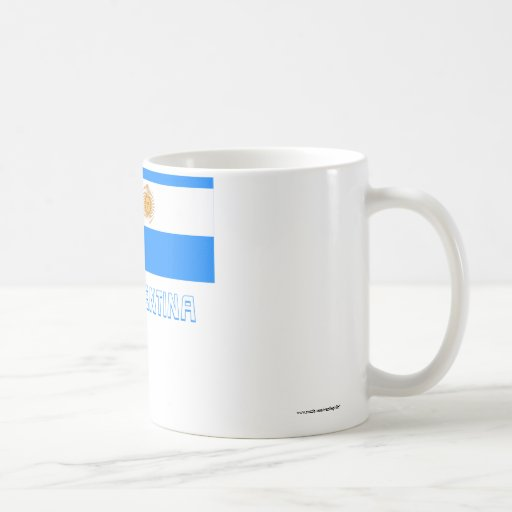 Argentina Flag with Name Mugs