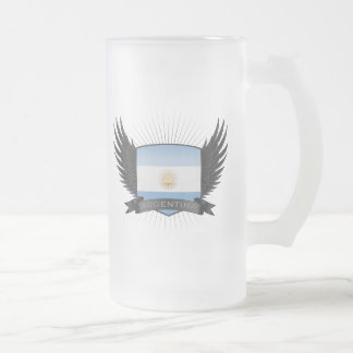 ARGENTINA FROSTED GLASS BEER MUG