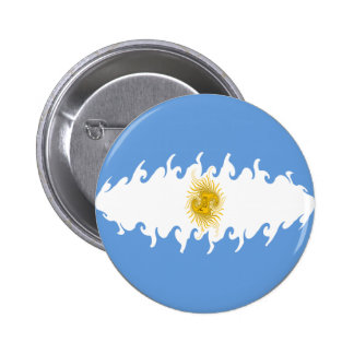 Argentina Gnarly Flag Buttons