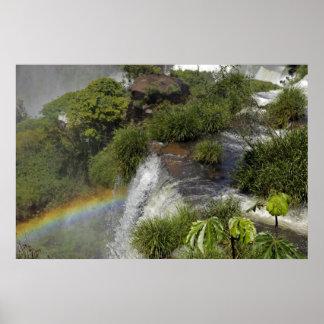 Argentina, Iguacu Falls. Rainbow at Iguacu Poster