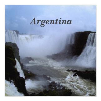 "Argentina 5.25"" Square Invitation Card"