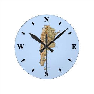 Argentina Map Clock