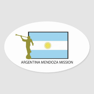 ARGENTINA MENDOZA MISSION LDS OVAL STICKER