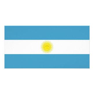 Argentina National Flag Photo Card Template