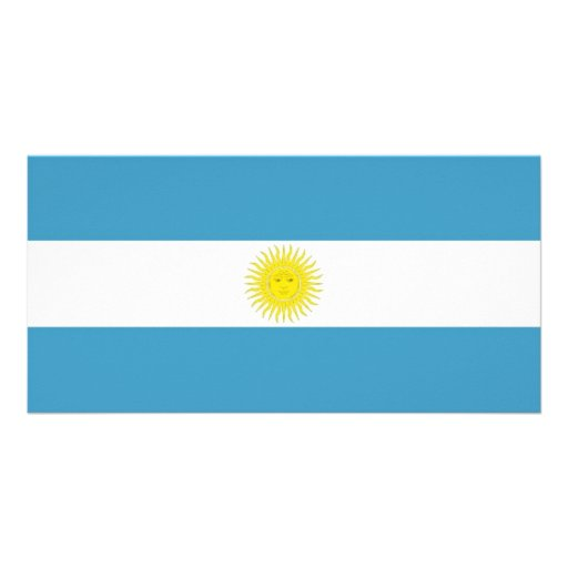 Argentina National Flag Photo Card Template