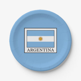 Argentina Paper Plate