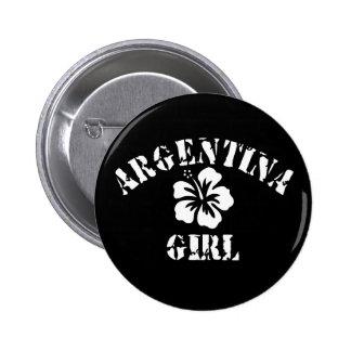 Argentina Pink Girl Button