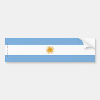 Argentina Plain Flag Bumper Sticker
