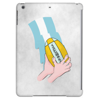 Argentina Rugby Team Supporters Flag With Ball