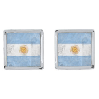 Argentina Silver Finish Cufflinks