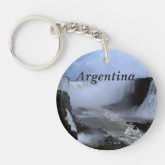 Argentina Single-Sided Round Acrylic Key Ring