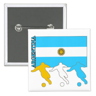 Argentina Soccer Players 15 Cm Square Badge