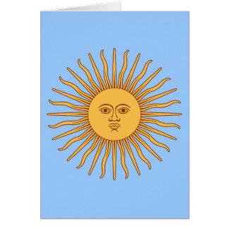 Argentina Sol de Mayo Card