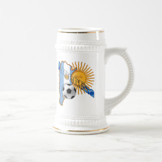 Argentina Sun Flag Map of Argentina World Cup Coffee Mug