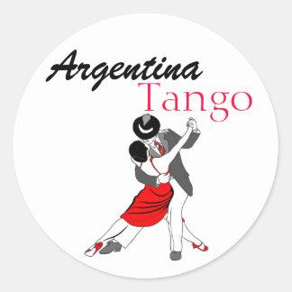 Argentina Tango Classic Round Sticker