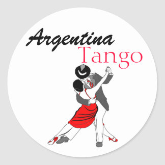 Argentina Tango Round Sticker
