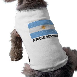Argentina Vintage Flag Sleeveless Dog Shirt
