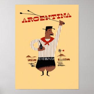 Argentina vintage travel poster
