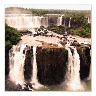 "Argentina Waterfalls 5.25"" Square Invitation Card"