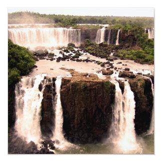 Argentina Waterfalls 5.25x5.25 Square Paper Invitation Card
