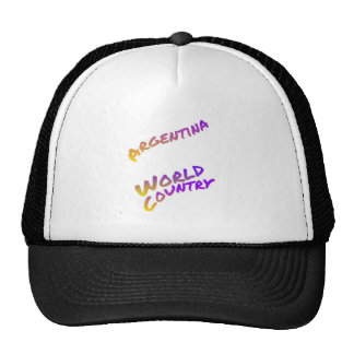 Argentina World Country colored text Cap